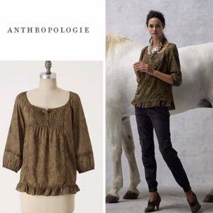 Anthropologie Edme & Esyllte Floral Peasant Top